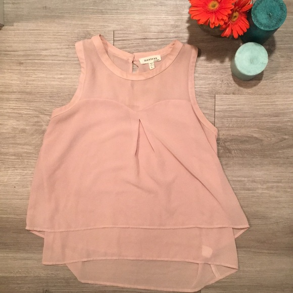 Monteau Tops - Baby Pink Layered Blouse